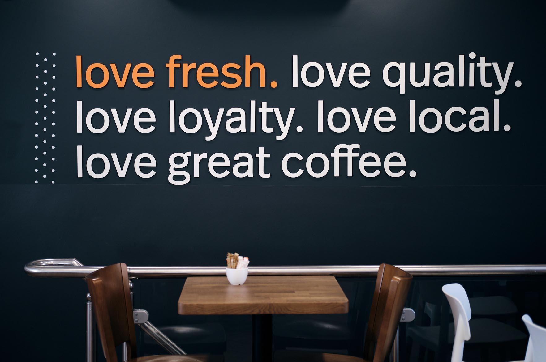 brennan & stevens, Cafe Sol branding