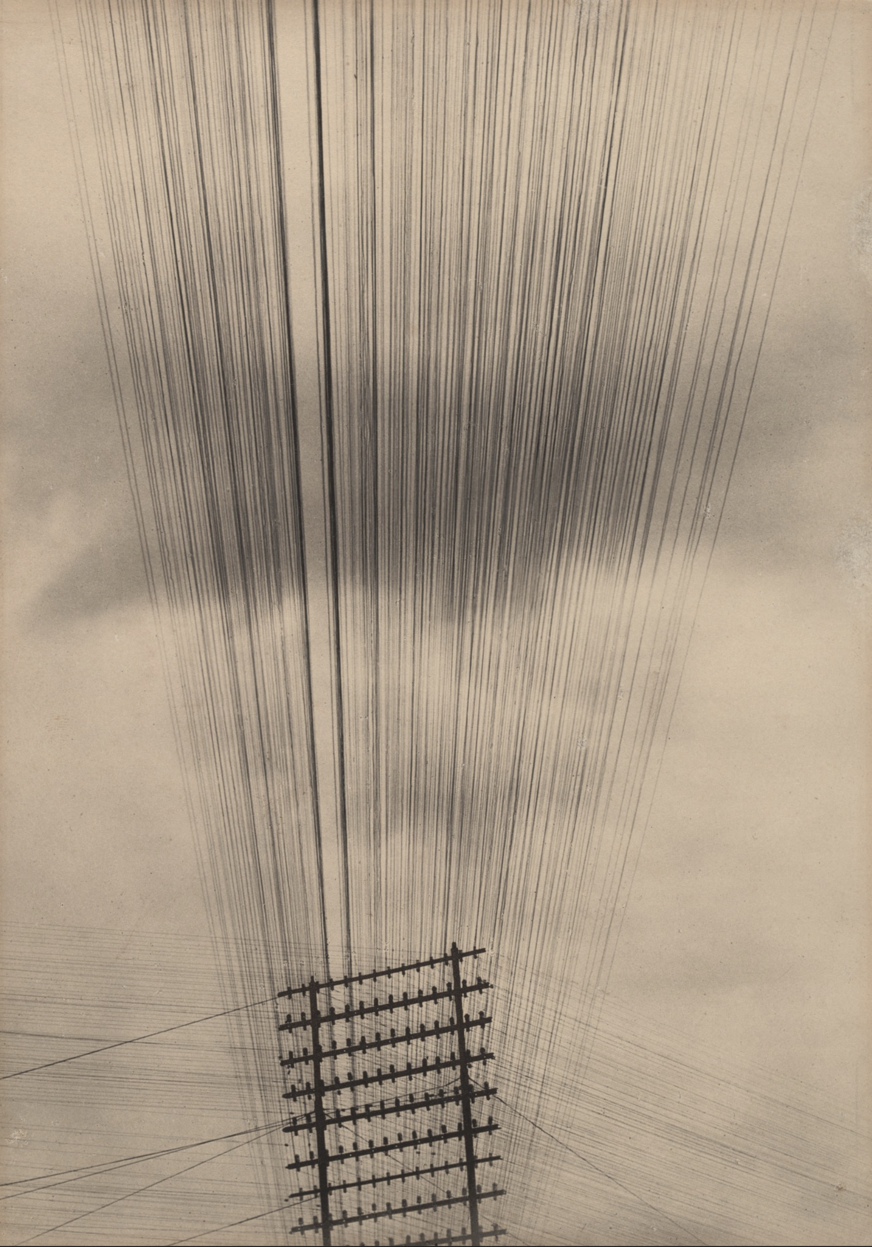 Telephone Wires, Mexico, 1925;  platinum print