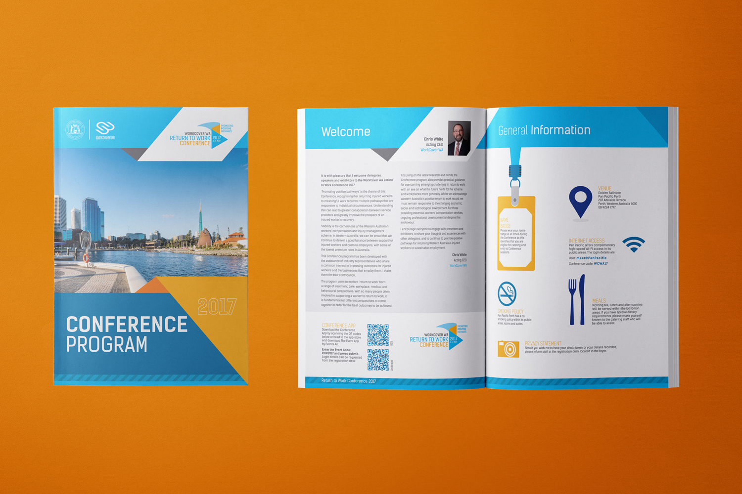 Work Cover WA 2017 conference branding