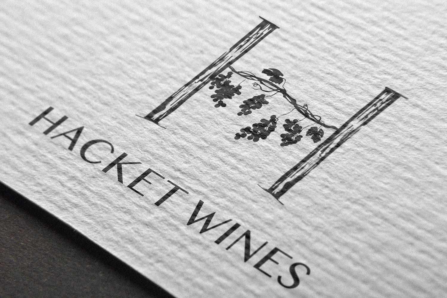 Hacket Wines logo design and wine labels