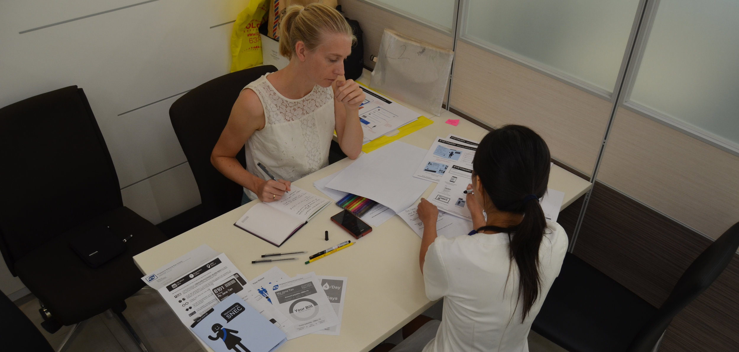Co-creating with staff from Singapore National Eye Center (SNEC)