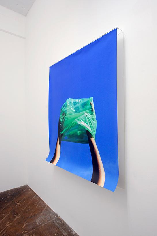 Wallpaper and acrylic sheet, 100cm x 110cm