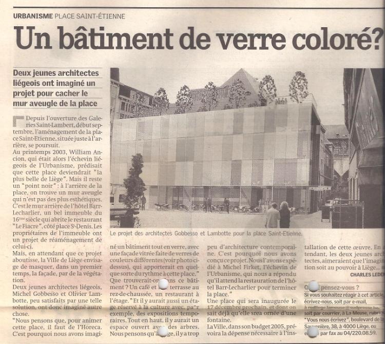 """""""La Meuse"""", 3 décembre 2004, page 6."""