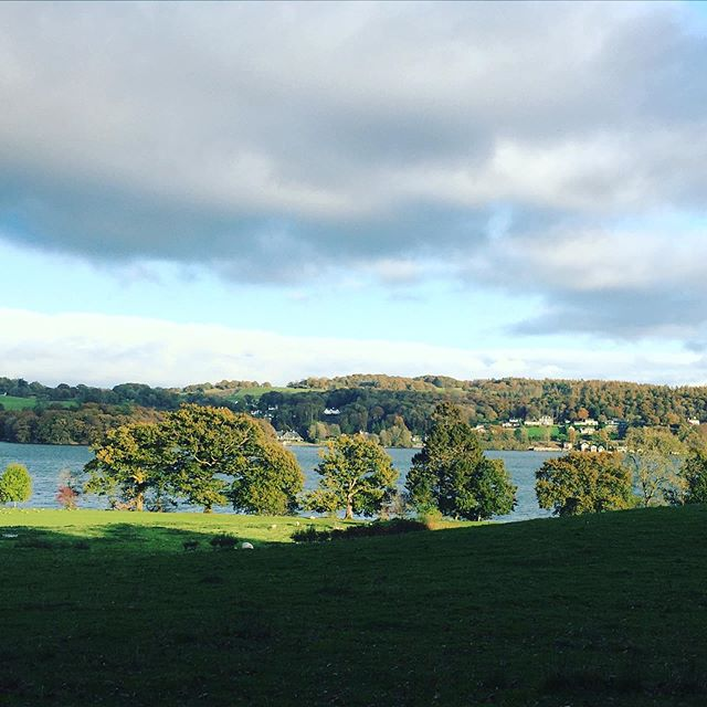 Blue sky ✅  Windermere Lake ✅  Autumn colours ✅  Green fields ✅ . Bestest of Sundays spent in The Lakes has recharged me for the week ahead. . Love and light, Nat x