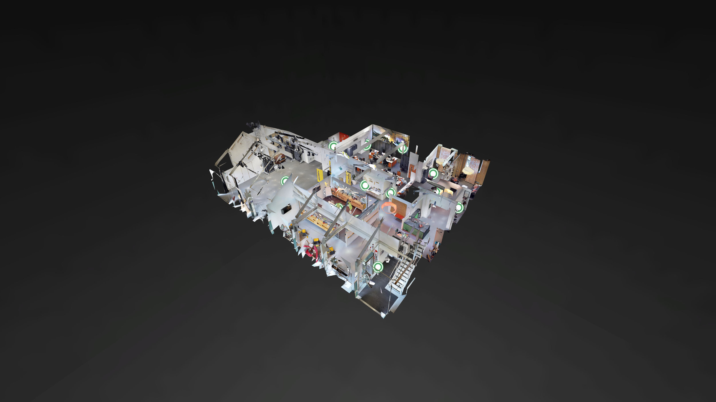 3D MODEL OF GRAEAE THEATRE COMPANY WITH INTERACTIVE HOTSPOTS