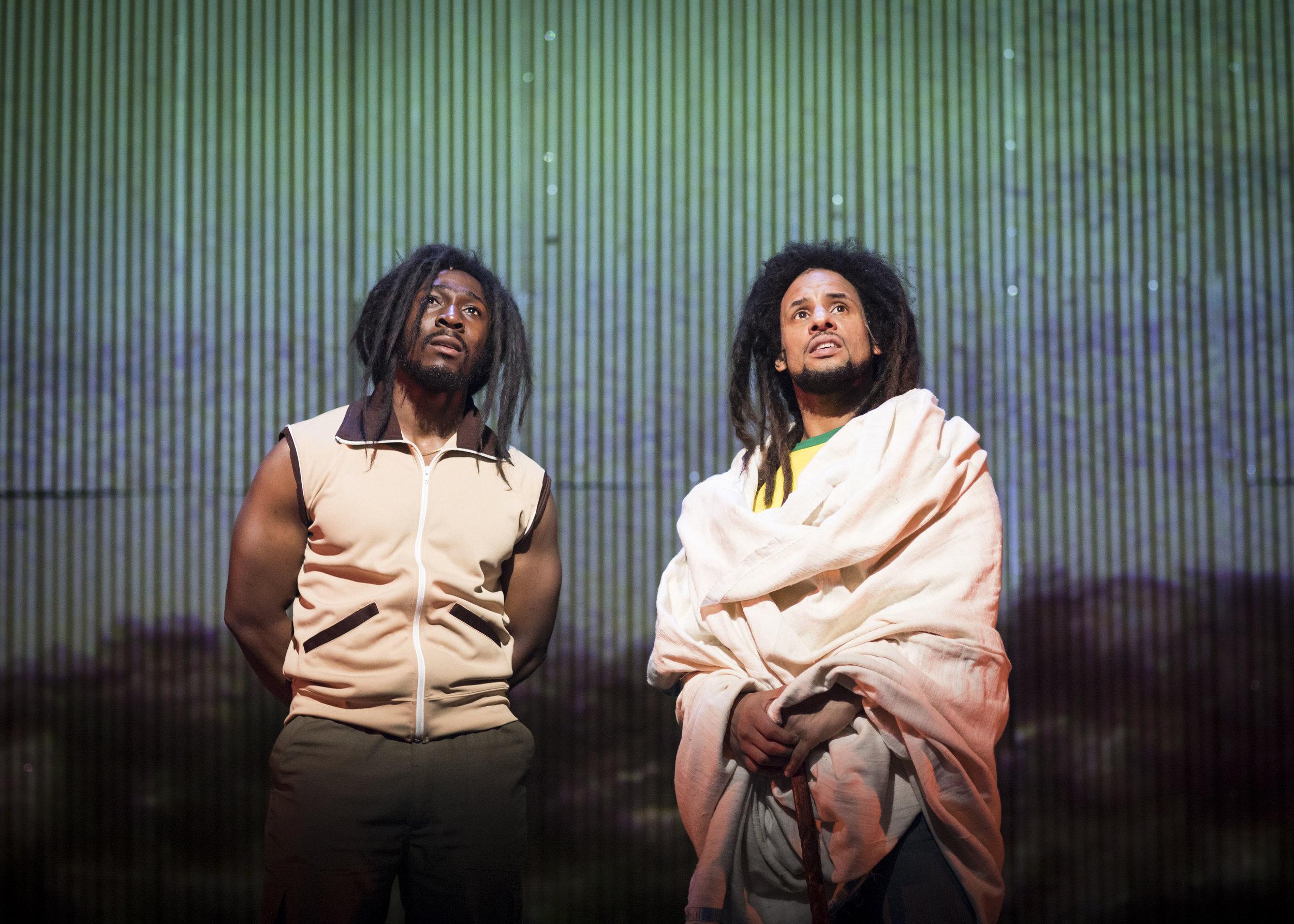 Eric Kofi Abrefa (Pablo) and Mitchell Brunings (Bob Marley) © Helen Maybanks.jpg