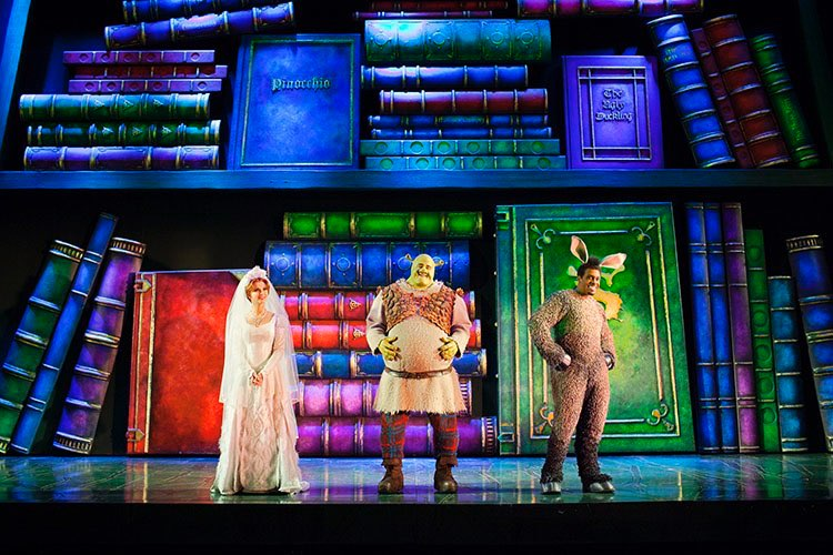 "SHREK THE MUSICAL - ""Duncan McLean does fine work with projection designs, adding effective dimension to the staging""Theatre Shelf"