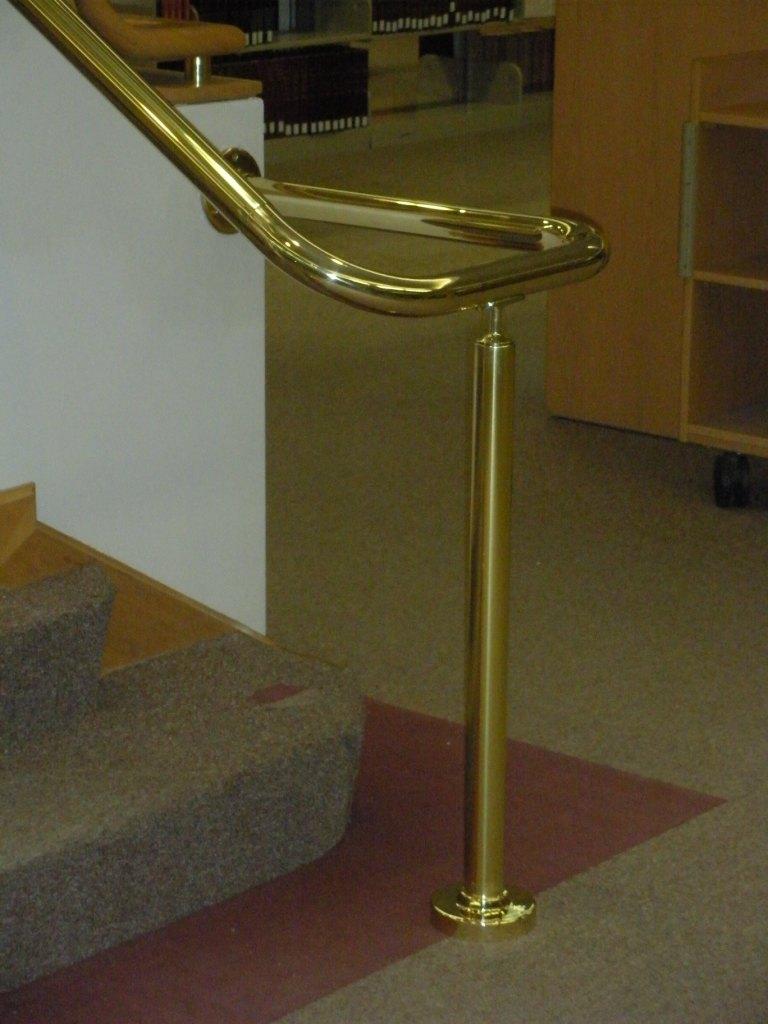 Hope College brass handrail - landing.JPG