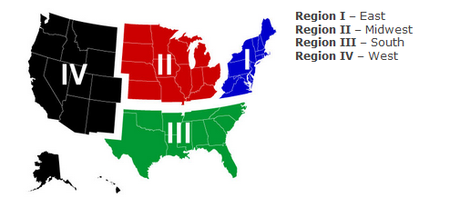 Us Youth Soccer Regions Map About — Tennessee State Soccer Association