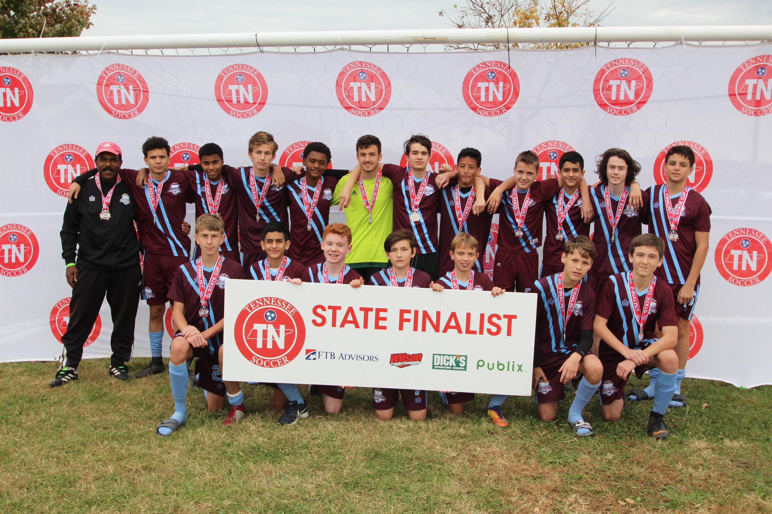 D3 U16 Boys Finalist - Clarksville SC B2003 Blue
