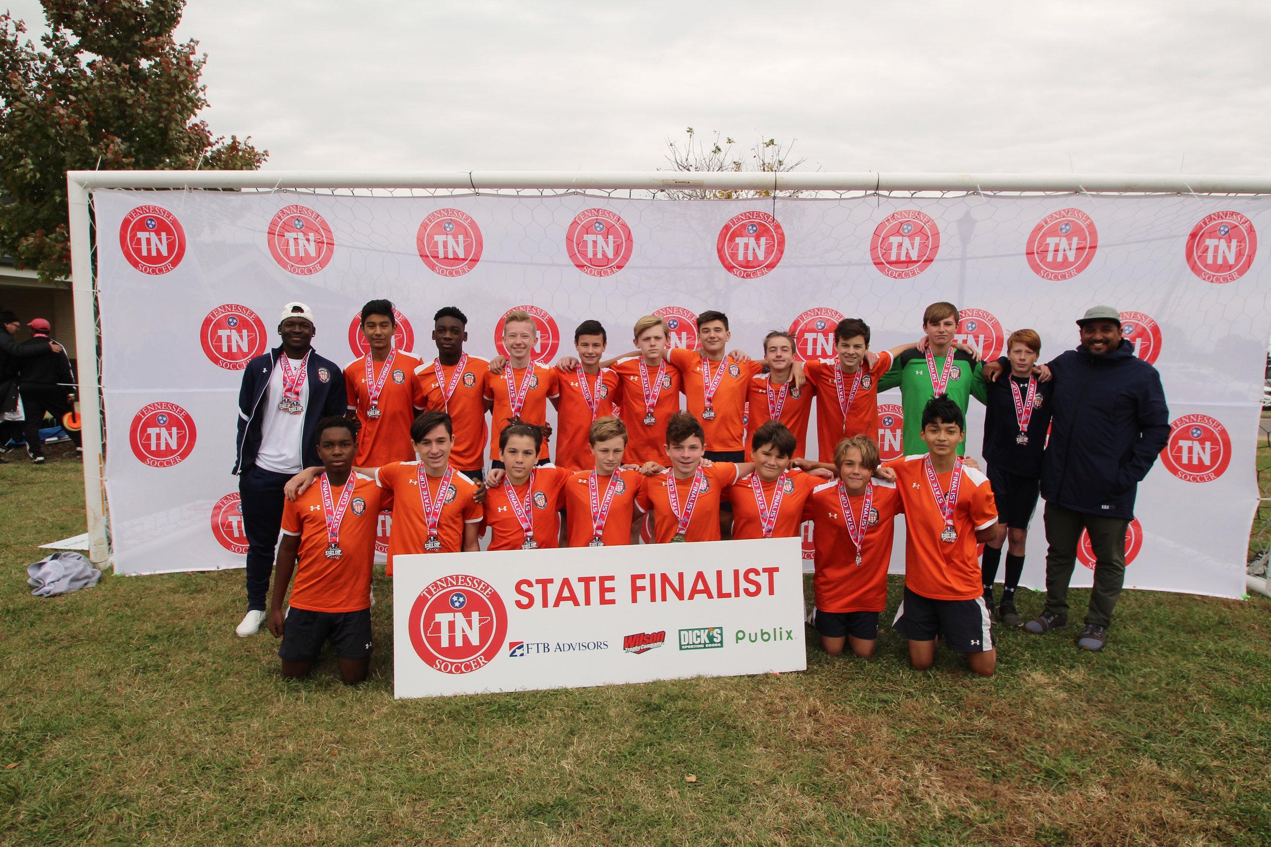 D2 U15 Boys Finalist - Knoxville FC Crush Premier 04B