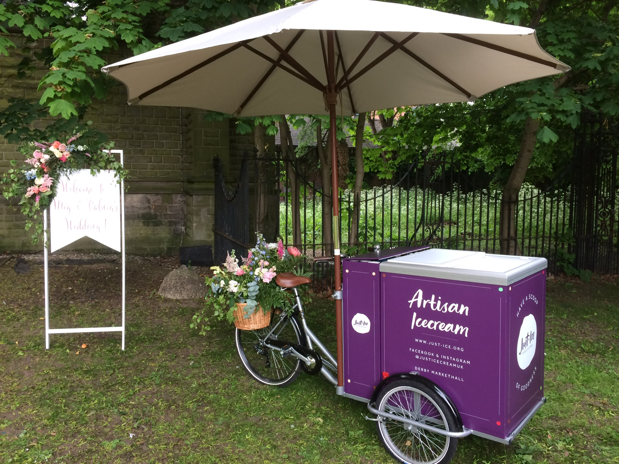 Meet Wilbur - Named after William Wilberforce, Wilbur is our beloved trike who adds a glorious spectacle to any event. He can serve 6 different flavours of ice cream from under his parasol and enjoys being decorated to fit any particular theme you would like. He can be used both indoors (so long as there is sufficient access) and outdoors.
