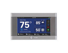 "Trane XL824 Control    Built-in Nexia Home Bridge, the hub for the Nexia™ Home Intelligence system  4.3"" color touchscreen  Create up to six daily heating and cooling schedules"