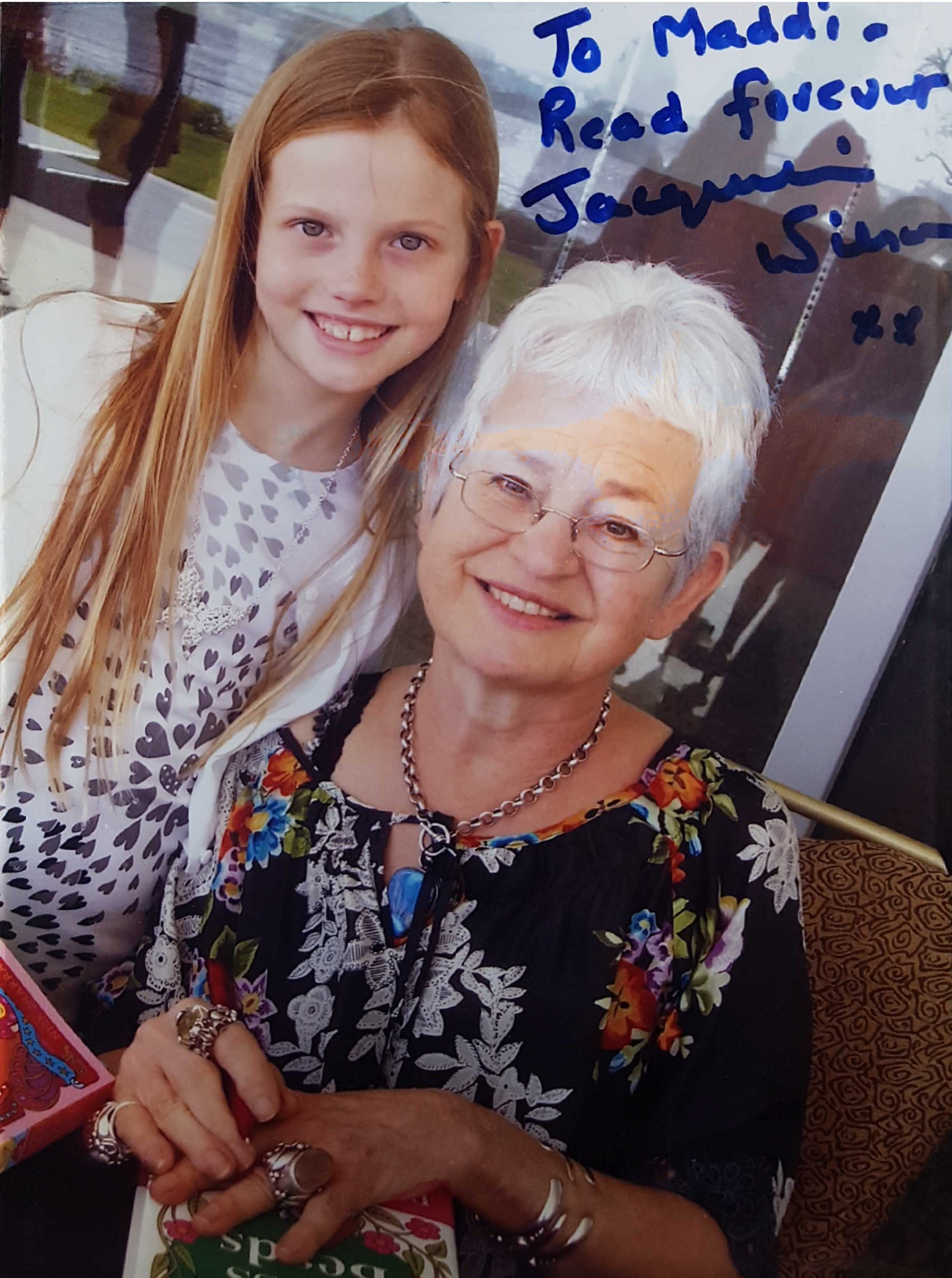 Jacqueline Wilson - Jacqueline is a such a lovely lady, I was living in Bahrain and just had to visit Dubai and the Emirates Literary Festival and was so very lucky to meet her in person. More about Jacqueline HERE