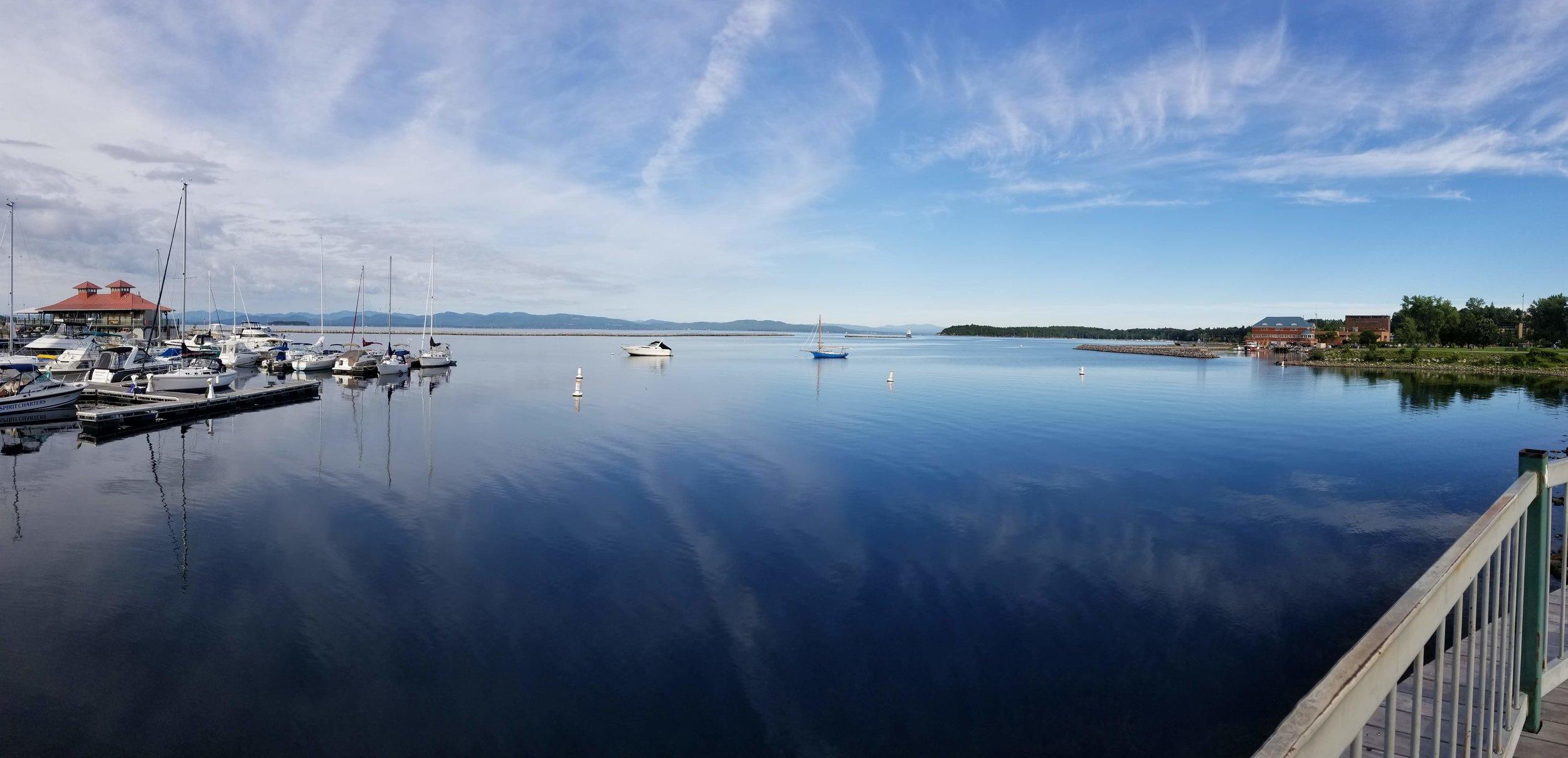 Lake Champlain from Burlington, VT