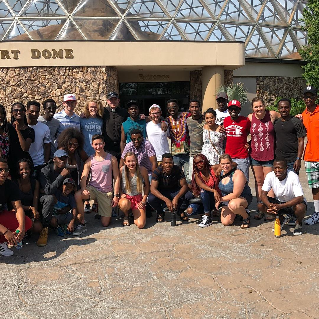 Father Mills organized a group trip to the Henry Doorly Zoo in June.