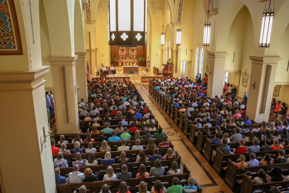 The Newman Center welcomes 2,500 for Sunday Masses.