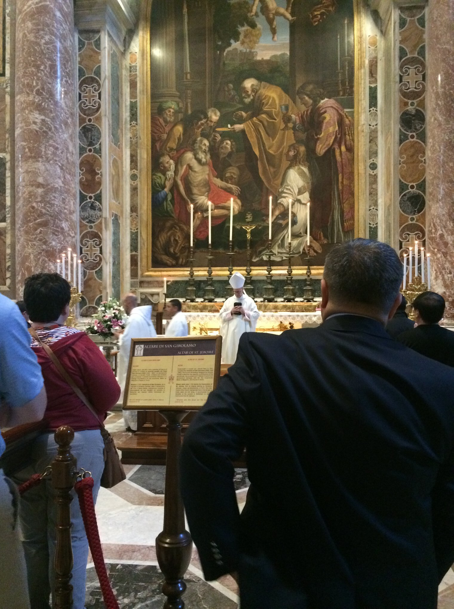 Bishop Conley celebrated Mass at St. John XXIII's crypt in St. Peter's Basilica on his feast day.