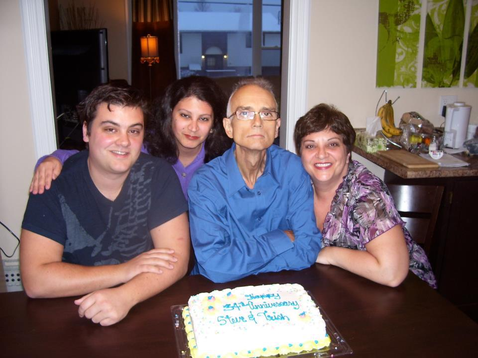 My last photo with my family, a day before my father died.