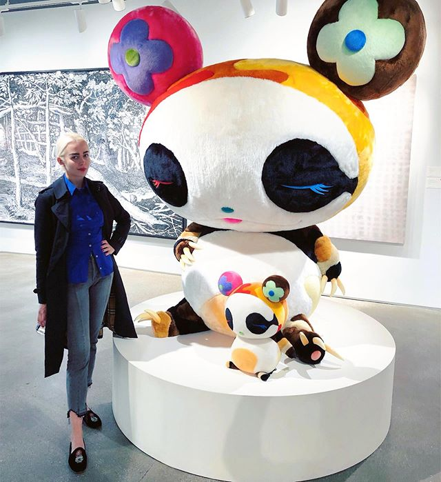 Went to the auctions this week, bought nothing, posed next to this Japanese plush art monstrosity. Feeling cultured AF. Toying with you guys - art is a serious business! Insta worthy 🐼: #takashimurakami + #sothebys
