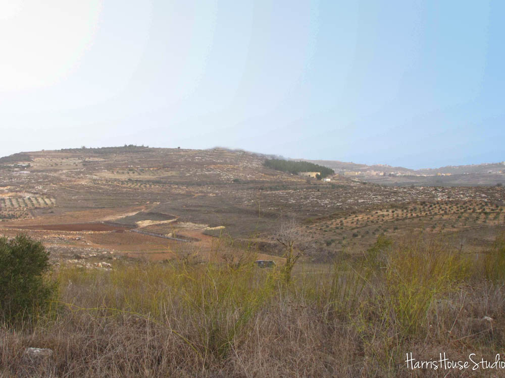 Nazareth in the distance (right side)