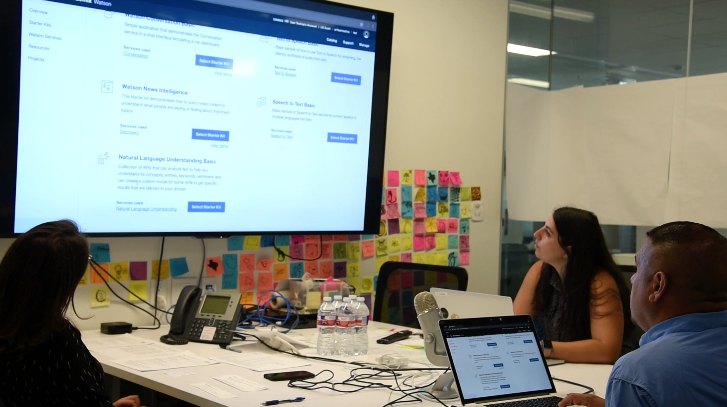 Conducting a user testing session, August 2017