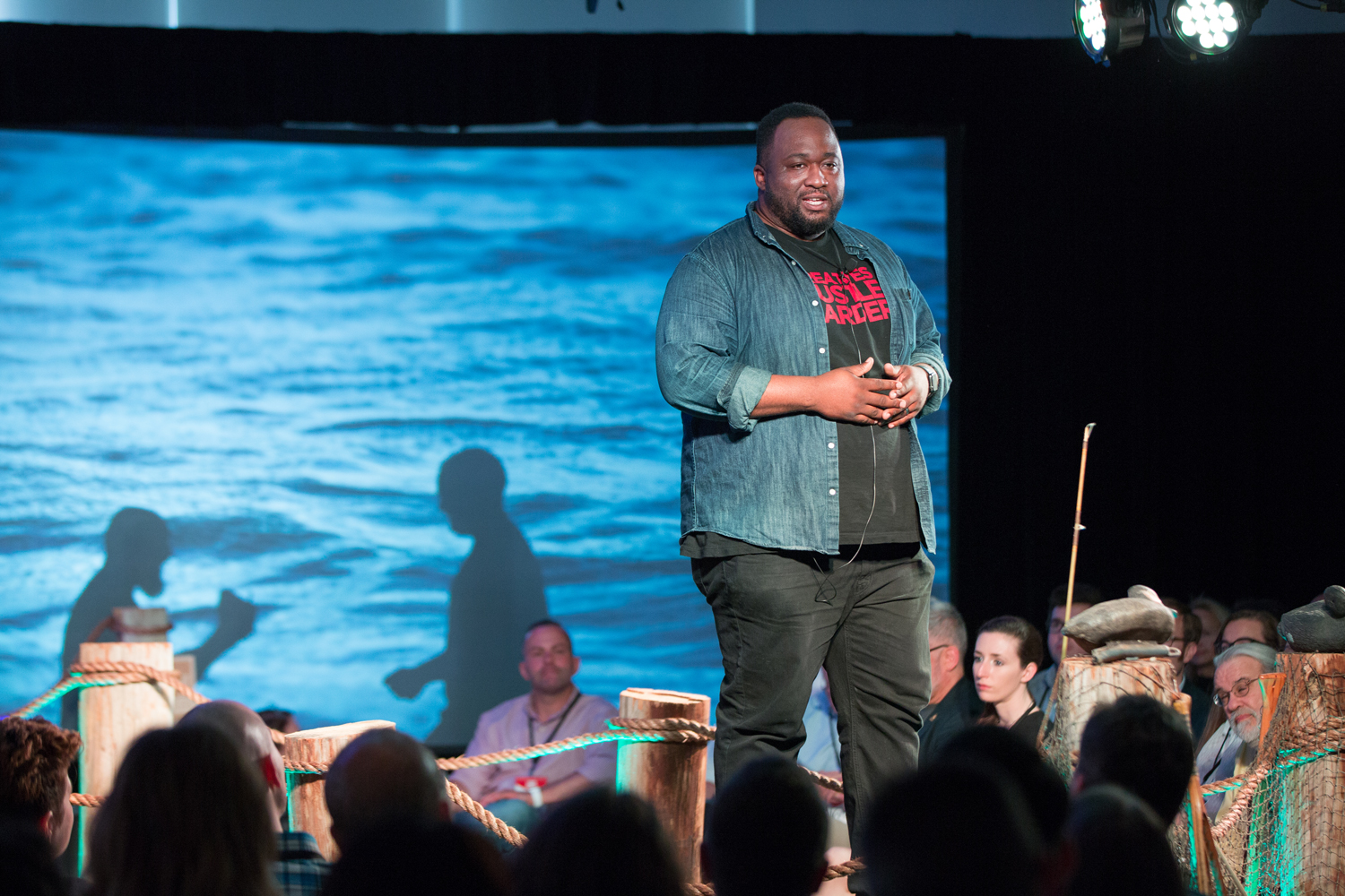 Entrepreneur Marshall L. Shorts, Jr. shares his story at Startup Storytellers No. 5: The Leap. Photo by  Shannon Williams Photography