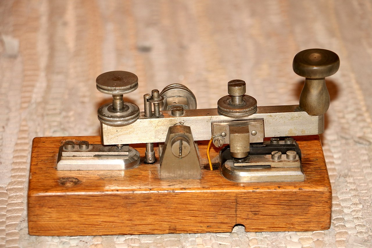 Samuel Morse   developed and patented a recording electric telegraph in 1837. The first telegram in the United States was sent by Morse on 11 January 1838, across two miles  of wire in New Jersey