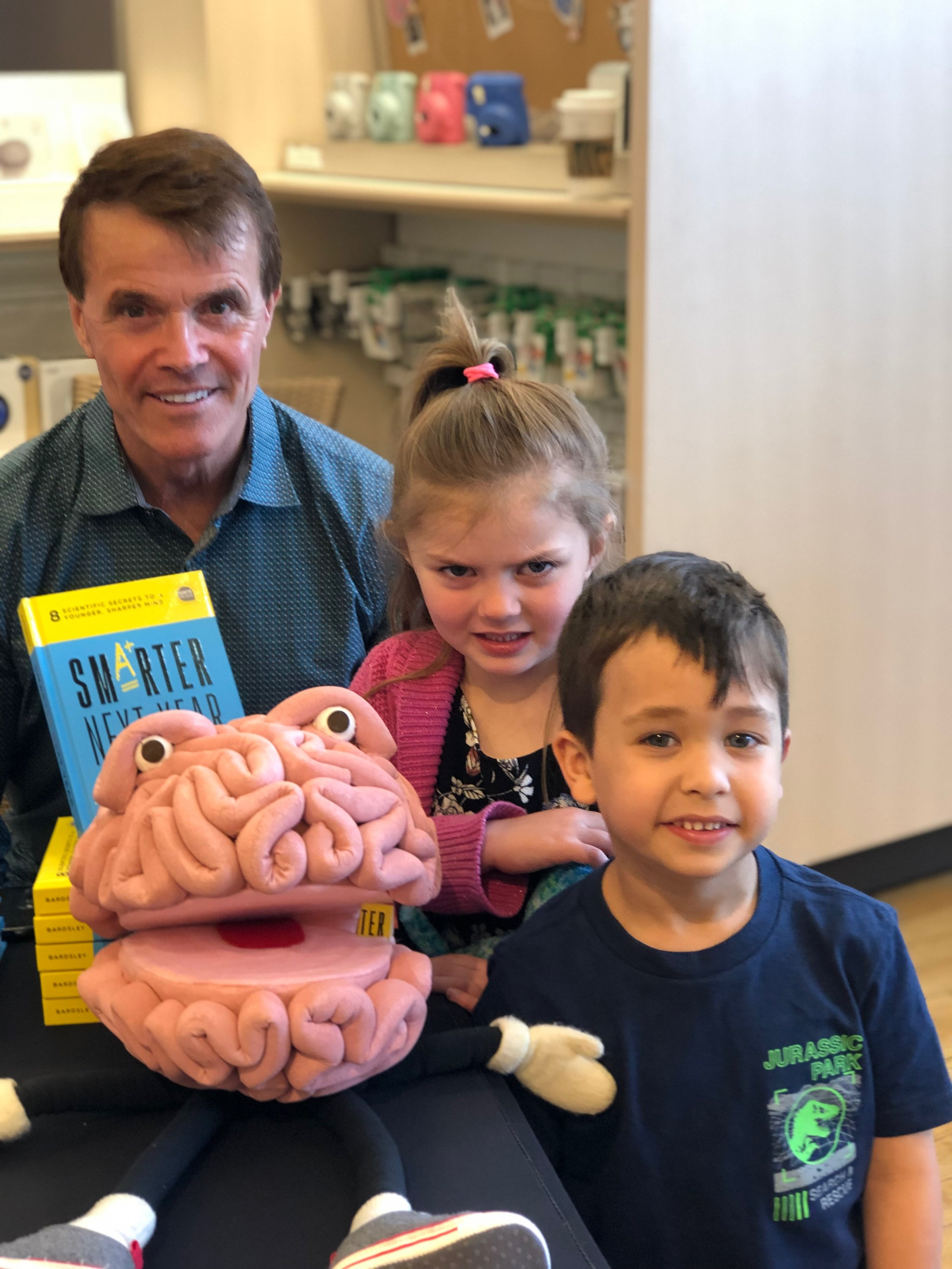 Do you know the Buddy the Brain song? Click above!  - check it out on facebook and sing along ! https://www.facebook.com/buddythebrain/?ref=br_rsHere's David at a recent book signing with his favorite Brain ambassadors who created the buddy the brain song and sang it for david and buddy for the 1st time !
