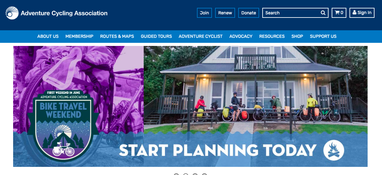 Adventure Cycling Association's mission is to inspire and empower people to travel by bicycle. Established in 1973 as  Bikecentennial , we are the premier bicycle-travel organization in North America with more than 40 years of experience and 52,000 members.