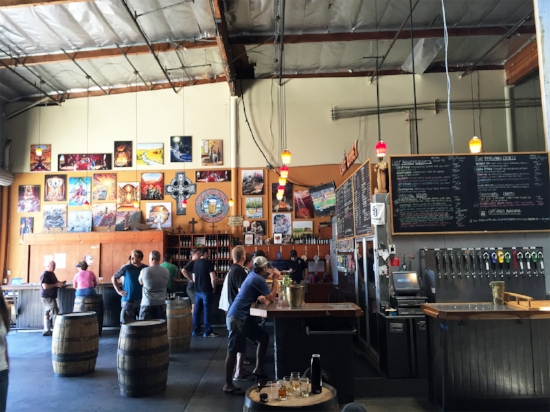 The Lost Abbey tasting room, which functions as the Port Brewing Co. tasting room is a great spot, with over 40 taps, lots of natural light and friendly and in-the-know bartenders.