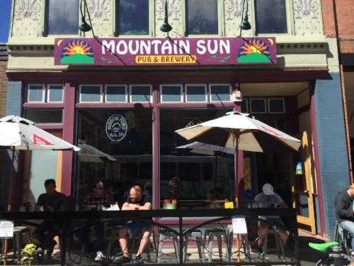 Mountain Sun Pub & Brewery is ideally positioned on the Pearl Street mall for a friendly pint with old friends or new friends you just met that moment.