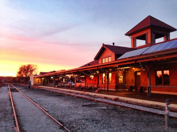 It's...it's kind of perfect. If you're into trains...and beer...and sunsets...oh, just do it.