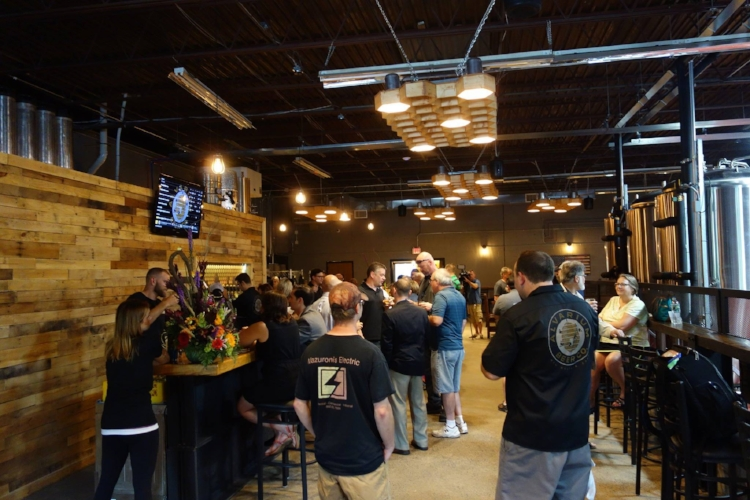Alvarium Beer Company's taproom. Where their hard work rewards your hard work by putting stellar beer in your hand...