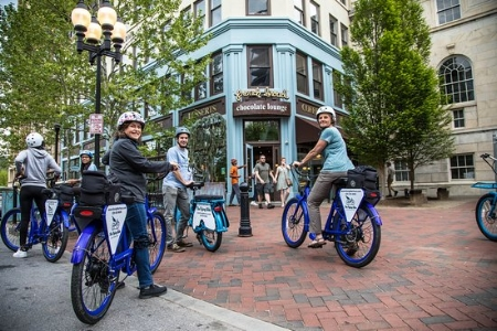 The Flying Bike — a beautifully customer-focused tour company, who showed us the best of Asheville and its beer history…on electric bikes!