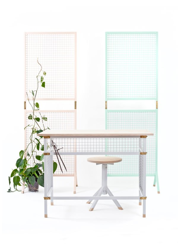 Workspace Furniture - Collapsible furniture series combining ready made industrial material with crafted details. >>>