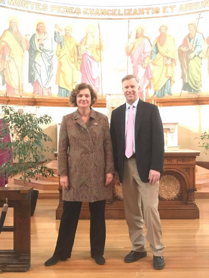 Mary Holland and Senator Chris Collins