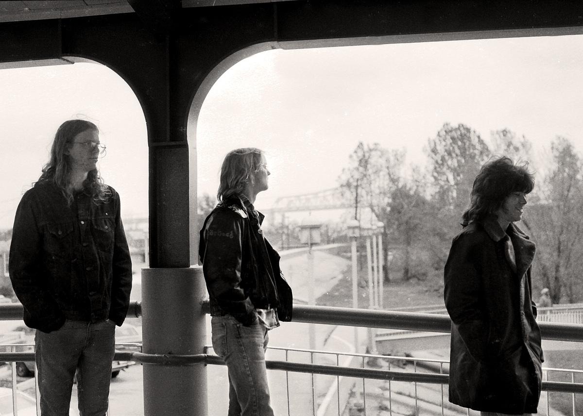 Joel, Mike, Marty on Algiers Ferry, 1986