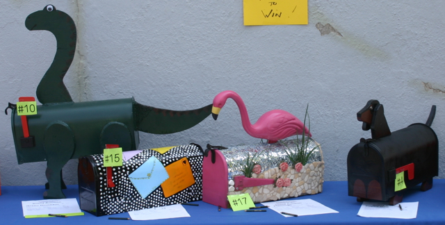 Dinosaur by Kegun Gans - Mail by Karen - Flamingo by Annemarie - puppy by Debbie Castro