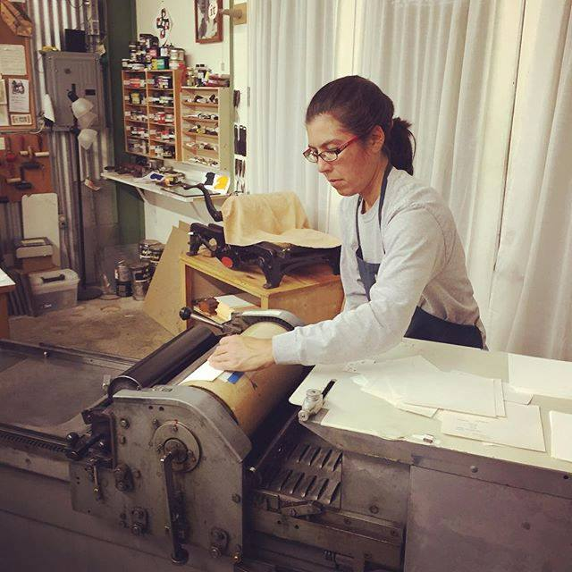 megan arnold letterpress printing