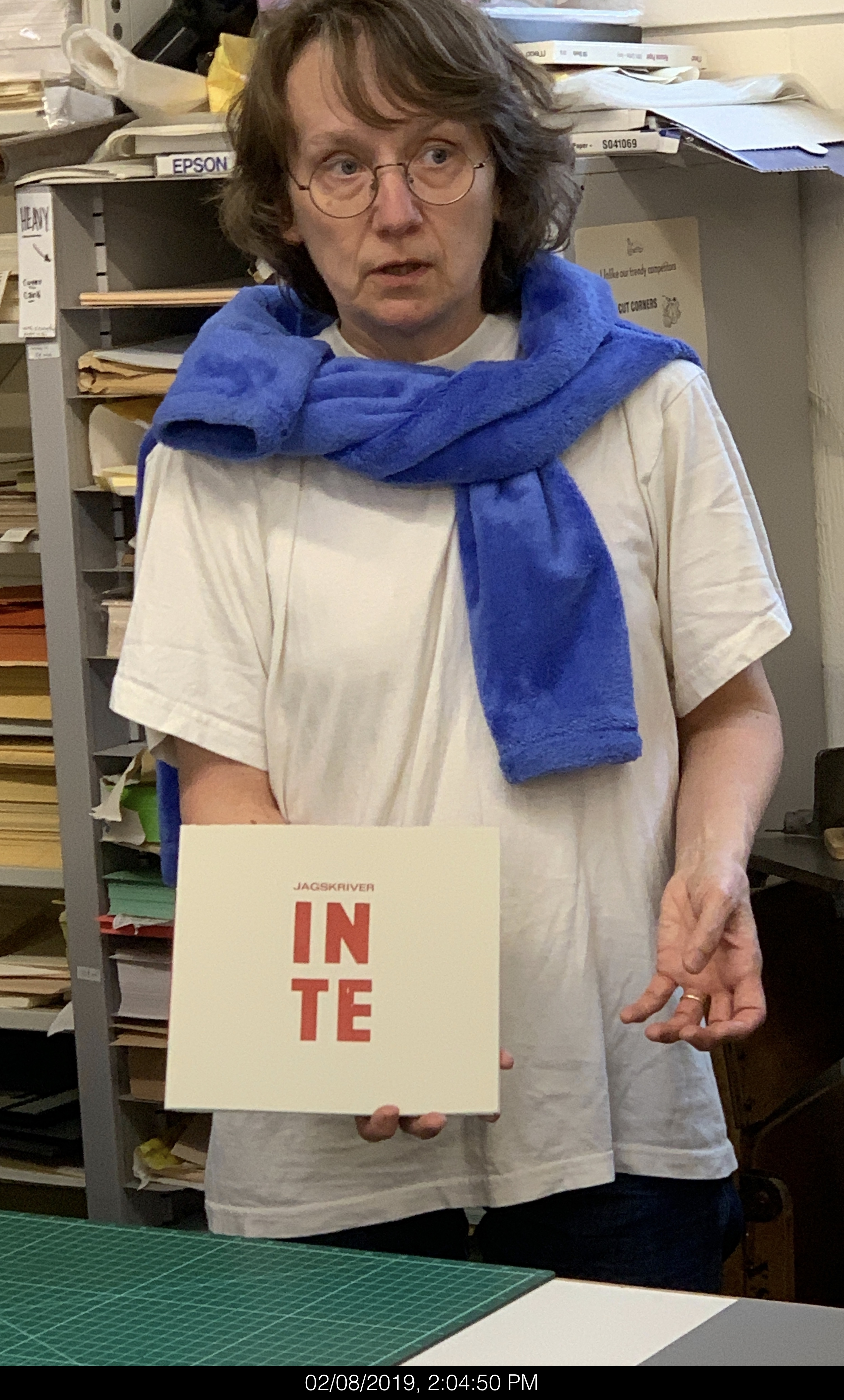 Lina Nordenstrom (Sweden) with artist book