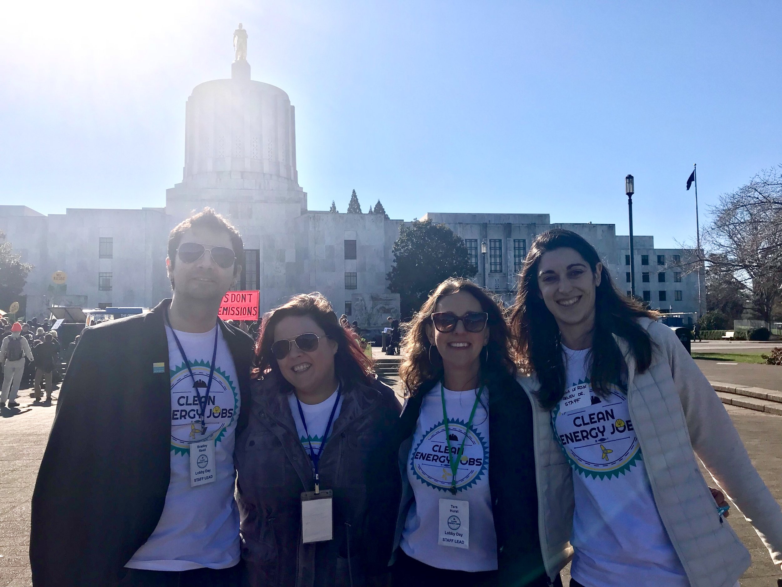 Devon worked with Renew oregon to execute the 2018 clean energy jobs lobby day and rally, which turned out over 500 oregonians from across the state to voice support for clean energy legislation.