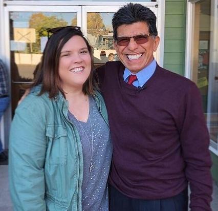 Devon with Rocky Barilla, the Oregon legislator who championed the passage of Oregon's anti-racial profiling law over 30 years ago.