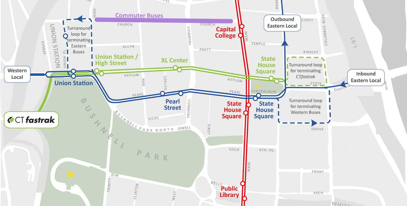 Downtown Transit Reorganization - Hartford, CT
