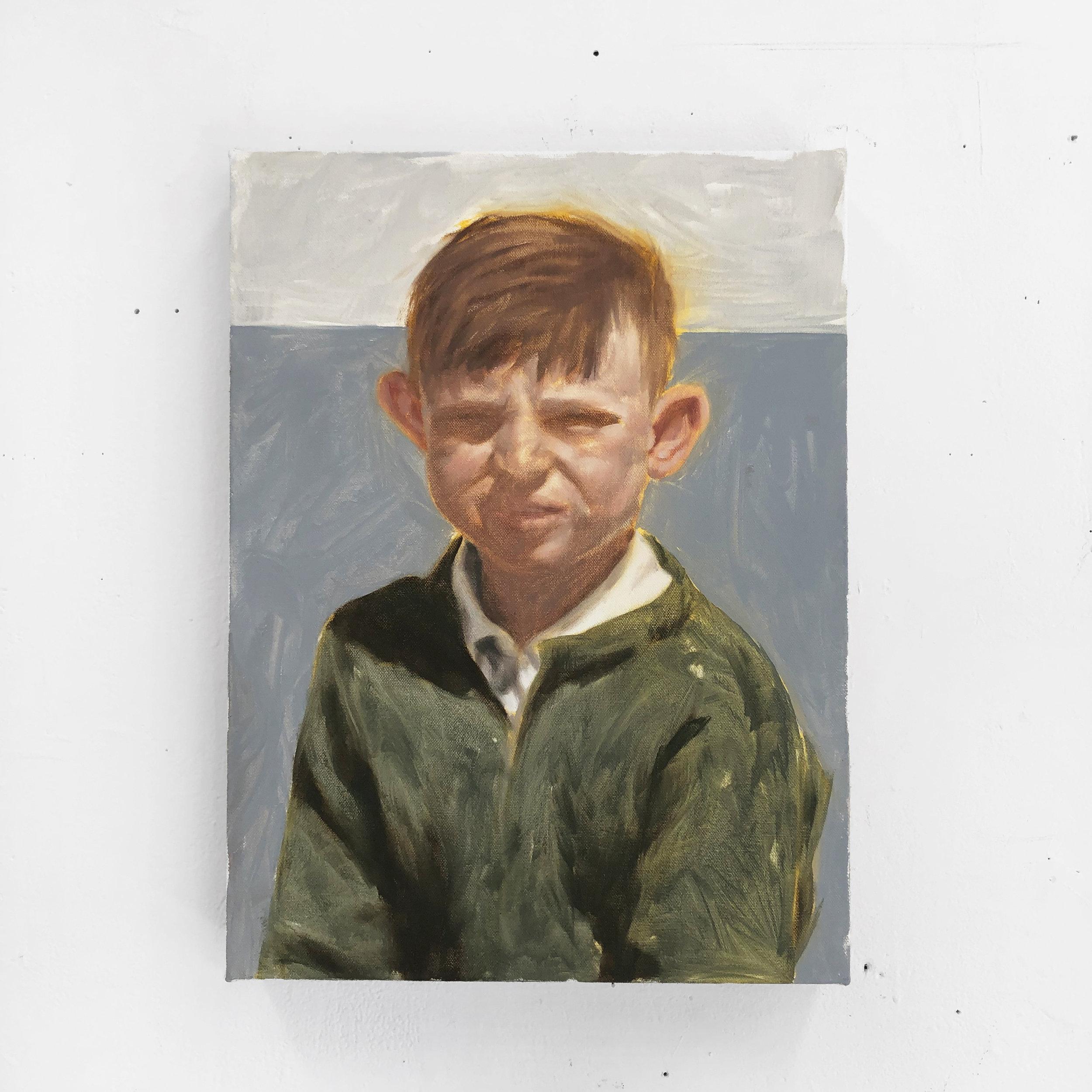 """Boy,  oil on canvas, 16"""" x 12"""", 2019"""