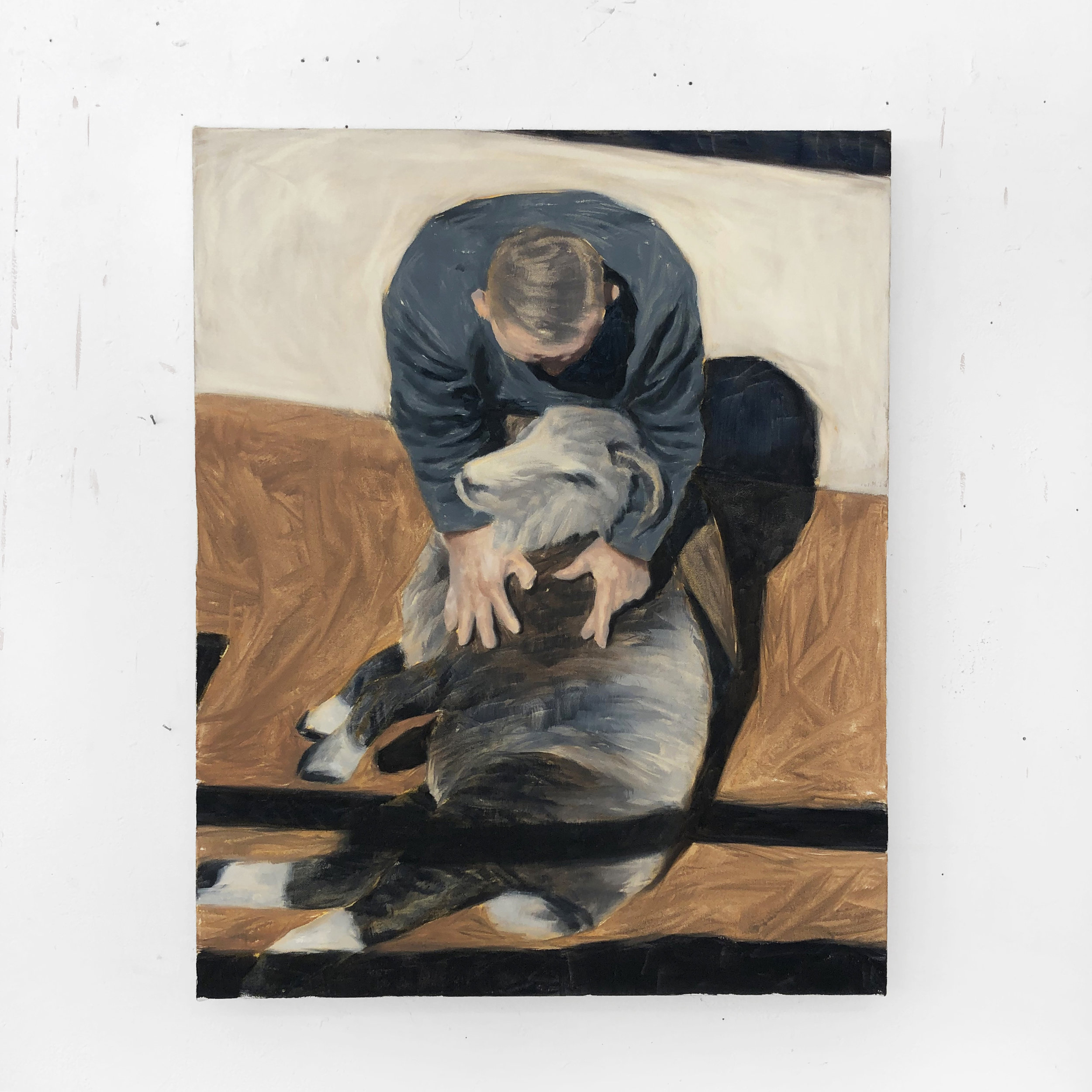 Ram,  oil on canvas, 2019
