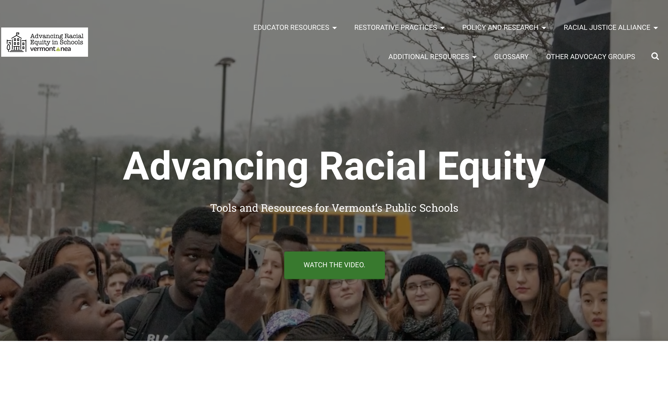VT NEA Racial Equity Toolkit: resources for students, teachers and administrators
