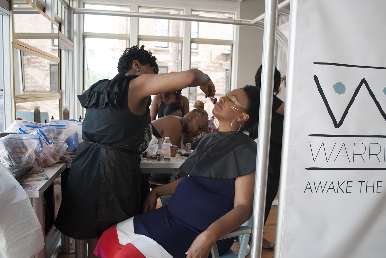 Warrior Mom Carla with makeover stylist LaMonica Hambrick.