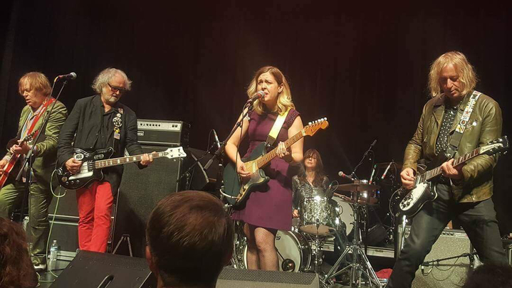 """Filthy Friends, a """"rock supergroup"""" originally formed to cover David Bowie songs, consists of members from Sleater-Kinney, R.E.M., Minus 5, and King Crimson.  Photo: Ann Gilly."""