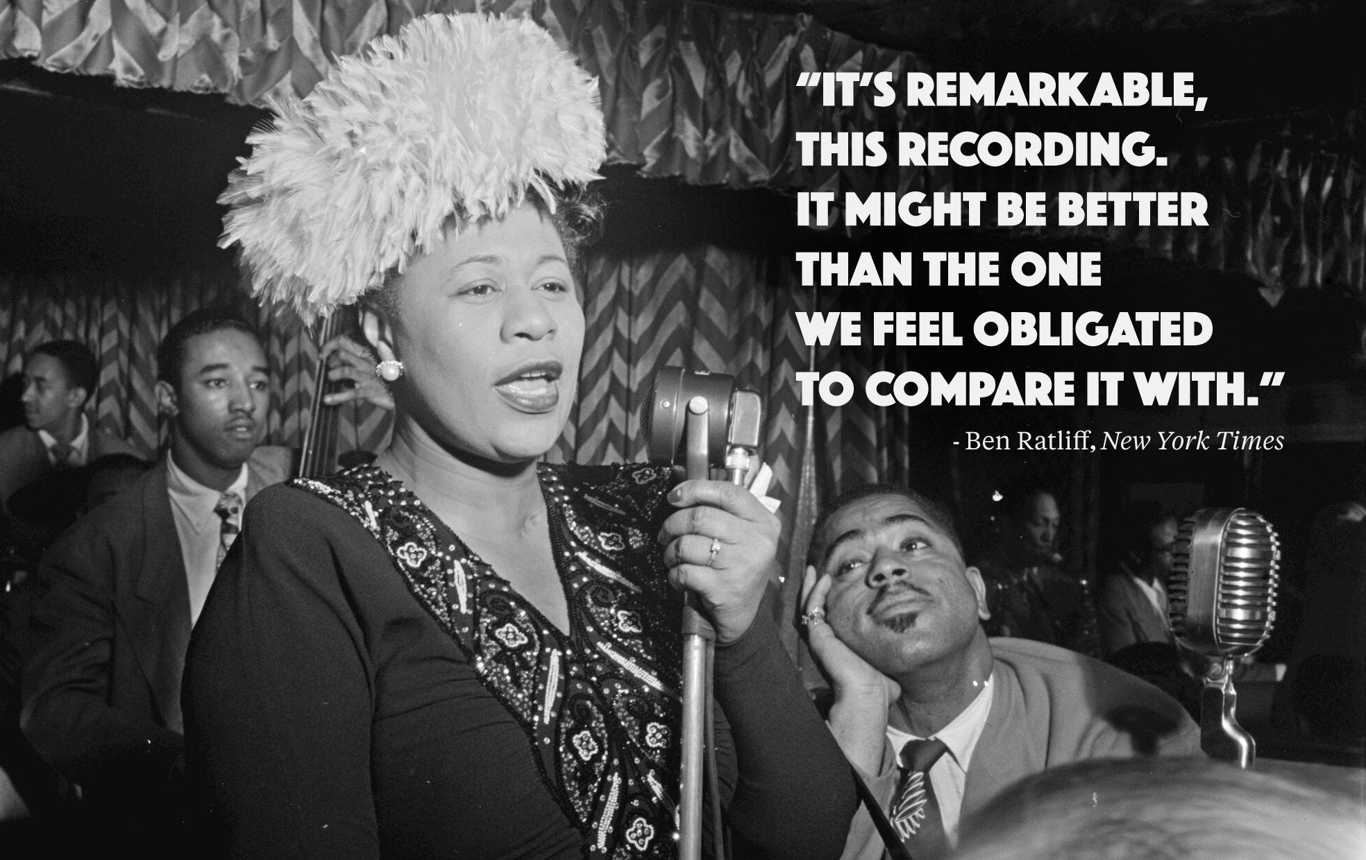 Ella Fitzgerald, quote, Savory Collection, National Jazz Museum in Harlem